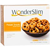 WonderSlim High Protein Pretzel Snacks - Low-Carb Diet Healthy 12g Protein Snack For Weight Loss (7 Bags)