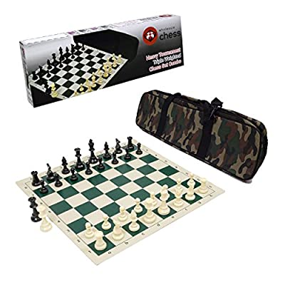 Wholesale Chess Heavy Tournament Triple Weighted Chess Set Combo (Camo Brown)