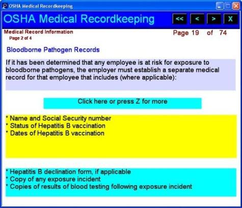 osha medical recordkeeping manual and cd introductory but