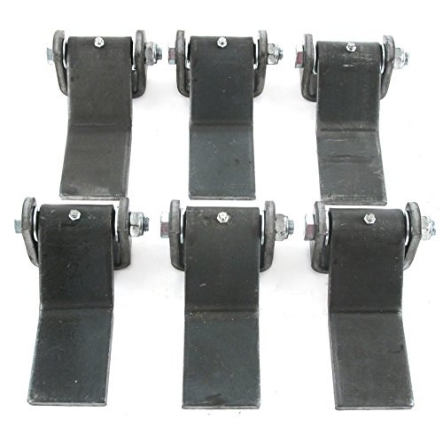qty-6-steel-strap-style-long-leaf-hinge-with-grease-zerk-fitting-weld-on-heavy-duty-greaseable-trailer-truck-body-gate-door-hinge