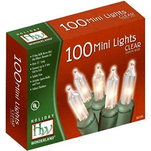 nomainliten holiday wonderland 100 count clear christmas light setgreen wire - Christmas Tree Lights Amazon