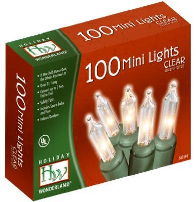 100 Count Units (Holiday Wonderland 100-Count Clear Christmas Light Set)