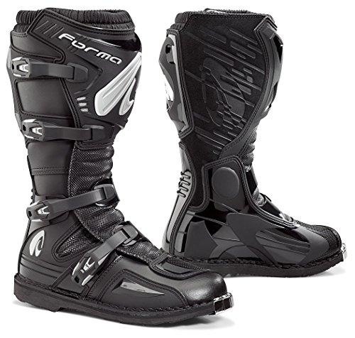 Forma Terrain EVO Off-Road MX Motorcycle Boots (Black, Size 8 US/Size 42 Euro)