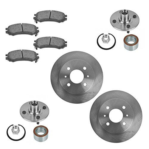 Wheel Bearing with Ceramic Brake Pad & Rotor Front Kit for Saturn SC SL - Sl2 Saturn Brakes