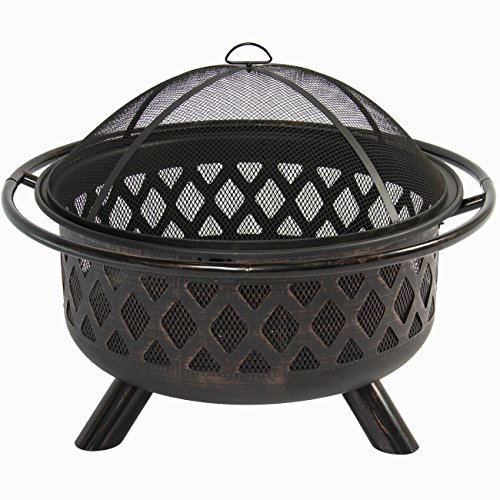 Best Choice Products Bronze Fire Bowl Fire Pit Patio