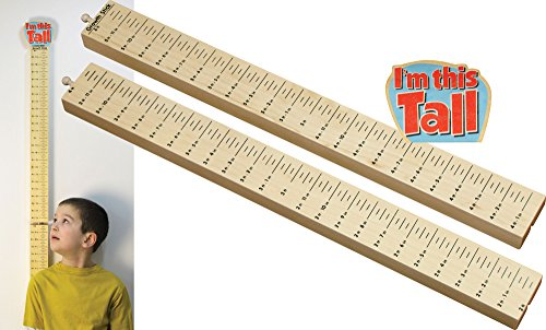 Growth Stick with I'm This Tall Topper - Made in -