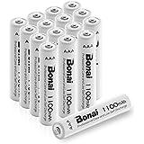 Bonai 16 Packs 1100mAh AAA Rechargeable Batteries 1.2V Ni-MH High-Capacity Batteries - UL Certificate