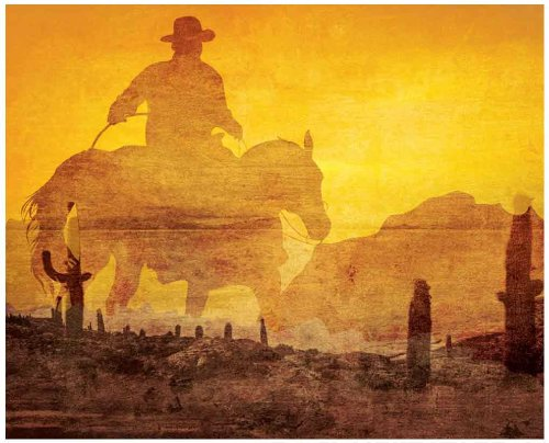 JP London MD3A028 10.5-Feet Wide by 8.5-Feet High Rustic Americana Western Cowboy Removable Full Wall Mural