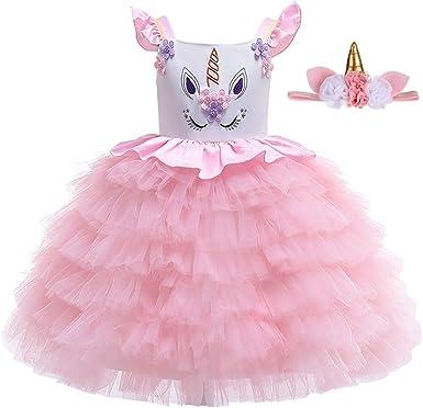 Bonito Disfraz de Unicornio para niñas con Cinta para el Primer ...