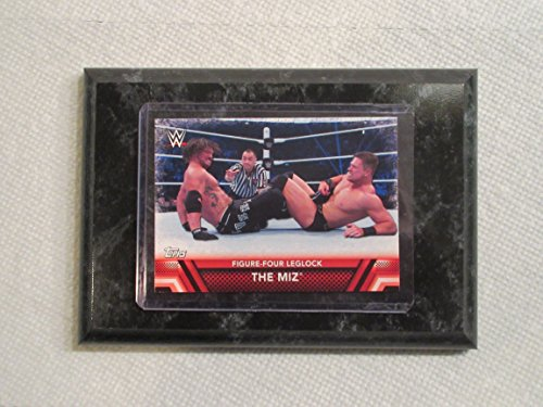The MIZ Wrestlemania Topps WWE 2017 figure-four leglock card mounted on a 4