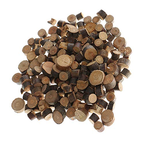 Natural Wood Slices Decorations 100pcs 5-10mm Small Natural Pine Unfinished Round Mini Discs DIY Crafts Wood Tree Rings Rustic Wedding Decoration Wooden Pile Ornaments