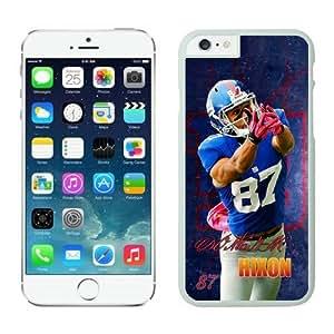 York Giants Domenik Hixon Case Cover For Apple Iphone 4/4S White NFL Case Cover For Apple Iphone 4/4S 14222