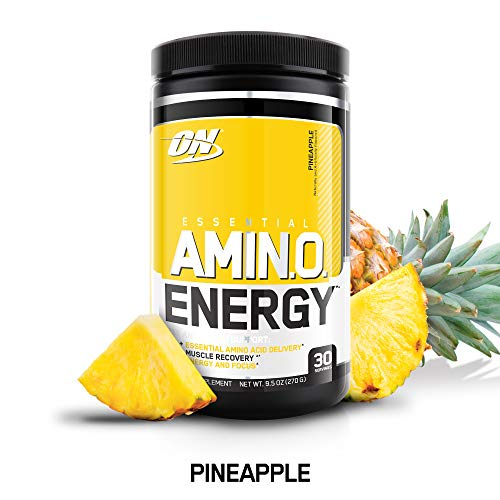 OPTIMUM NUTRITION ESSENTIAL AMINO ENERGY, Pineapple, Keto Friendly BCAAs, Preworkout and Essential Amino Acids with Green Tea and Green Coffee Extract, 30 Servings