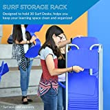 ECR4Kids The Surf Storage Rack, Stores 30 Portable