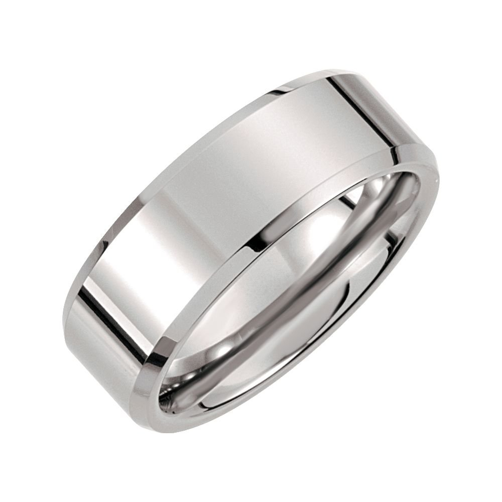 Ring Size 13 Security Jewelers Tungsten 8mm Beveled Band Size 13