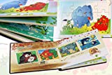 PIGLOO™ 4-Page Multicolored Animal Cartoons Jigsaw Puzzle Diary for Kids Ages 3+ Years