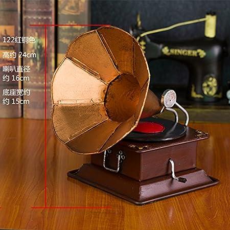 GFEI Antique Vintage Tocadiscos Tocadiscos Ornamentos de ...
