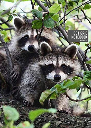 notebook: a4 8.27x11.69 cute dot grid notebook for bullet journaling | cool dotted grid notebook paper with page numbers | dot grid notebook college ... animal wildlife fur tree woodland natural ()
