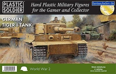 15mm WWII: German - Easy Assembly Tiger I Tank