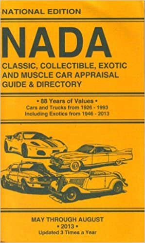 Nada Classic Car Value >> Nada Classic Collectible Exotic And Muscle Car Appraisal Guide
