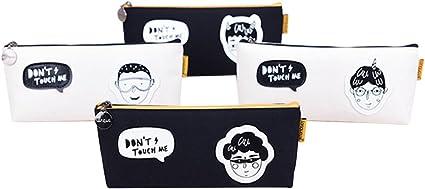Estuche Punk Boy barco tipo bolsa de lápiz creativo con cremallera bolsa de papelería para Estudiantes (tipo al azar): Amazon.es: Oficina y papelería