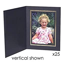 Collectors Gallery Classic Black Portrait Folders for Horizontal 8x10\