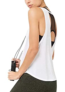 2fe748c4b17 Mippo Women s Sexy Open Back Yoga Tops Workout Clothes Active Shirt Backless  Tank Tops