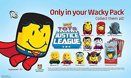 Amazon Com Set Of 10 Justice League 2012 Sonic Tots 6 Wacky Pack