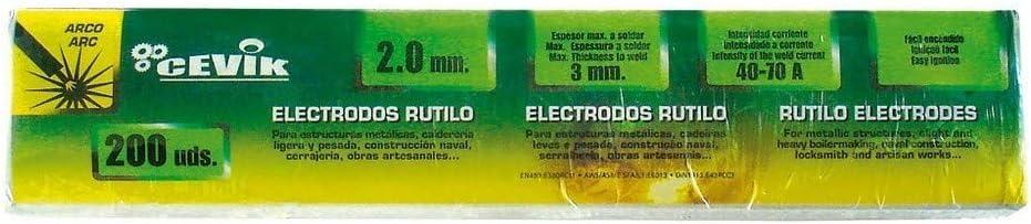 Cevik TECA2252.5RU - Caja 225 uds electrodos rutilo 2,5 mm: Amazon.es: Bricolaje y herramientas