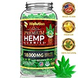 Hemp Gummies 18000 MG High Potency Premium - 300 Per Fruity Gummy with Organic Hemp Oil | Natural Hemp Candy Supplements for Pain, Anxiety, Stress & Inflammation Relief | Promotes Sleep & Calm Mood