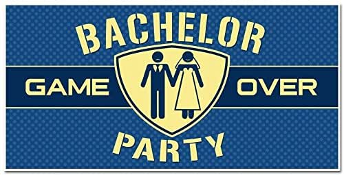 be799d0b14 Amazon.com: Bachelor Party Banner - Party Backdrop Decoration: Handmade