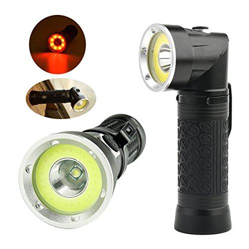 XANES 1305 XM-L T6+COB 1500Lumens Foldable Magnetic Tail LED Inspection Flashlight
