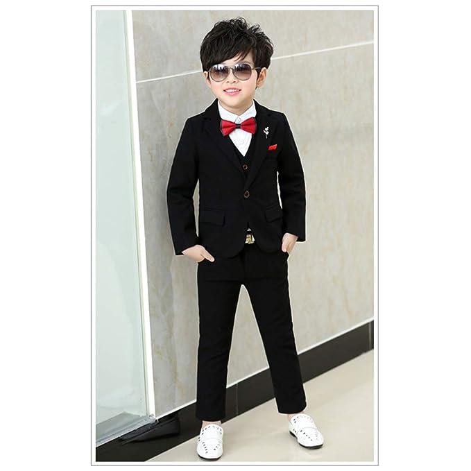 Amazon.com: XFentech Boys Dinner Suit-Prom Wedding Suit Boys ...