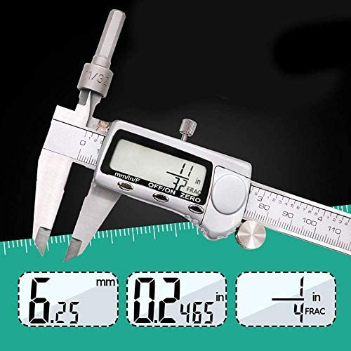 YISUNF Measuring Gauge, Stainless Steel Digital Vernier Caliper Digital Caliper Electronic Caliper 0-150 Metric Metric Three Display (Size : 0-150mm)