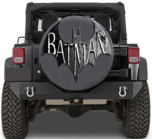 Logo of Batman, superhero Sticker Full Color Spare Tire Cover Decal, Sticker Wheel Cover gc1494