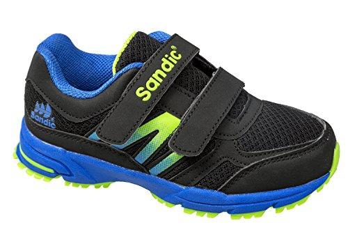 gibra - Zapatillas de sintético/textil para niño schwarz/blau/neongrün