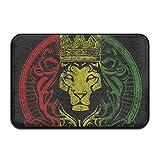 nuohaoshangmao HOMESTORES African Flag Rasta Lion Rastafari Jamaica Reggae Bath Mat - Memory Foam Shower Spa Rug Bathroom Kitchen Floor Carpet Home Decor Non Slip Backing23.6 x 15.7'' inch