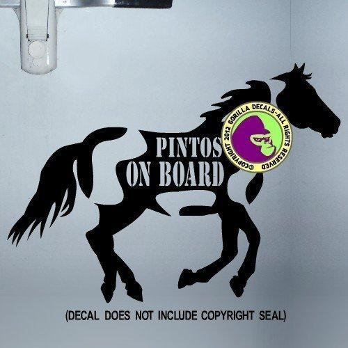 PINTOS ON BOARD Body Trailer Vinyl Decal Sticker B