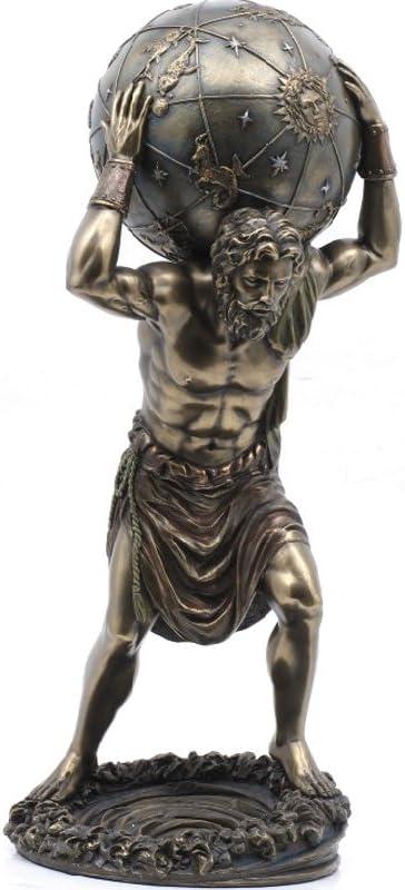 PTC 11.75 Inch Man with Atlas Globe Shrugged Resin Statue Figurine