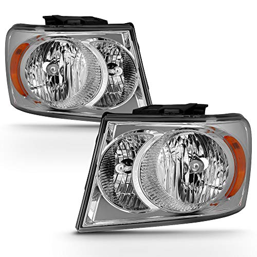 ACANII - For Chrome 2007 2008 2009 Dodge Durango Headlights Headlamps Replacement 07-09 Driver & Passenger ()