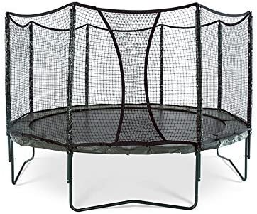 JumpSport AlleyOOP PowerBounce Trampoline with Enclosure Outstanding Bounce Performance 50 Patent Safety Innovations 12 and 14
