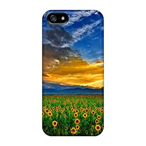 Ultra Slim Fit Hard R. Steven Case Cover Specially Made For Iphone 5/5s- Sunflowers Field