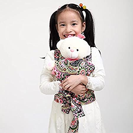 Baby Doll Carrier Mei Tai Sling Toy For Kids Children Toddler Front Back, Mini Carrier, Birthday Christmas Gift (Pink Flamingo) CN