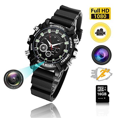 16Gb Hd 1080P Night Vision Waterproof Watch Camera - 4