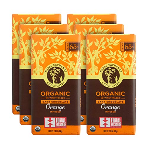 Equal Exchange Organic Orange Dark Chocolate, 2.8-Ounce (Pack of 6) ()