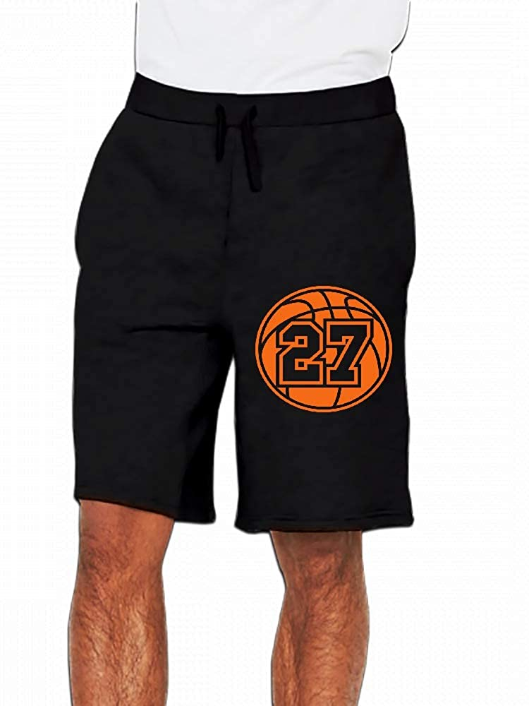 JiJingHeWang 27 Basketball Vector Mens Casual Short Trouser