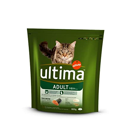 Ultima Alimento Para Gatos Adulto Sabor Salmón Bolsa - 800 gr: Amazon.es: Amazon Pantry