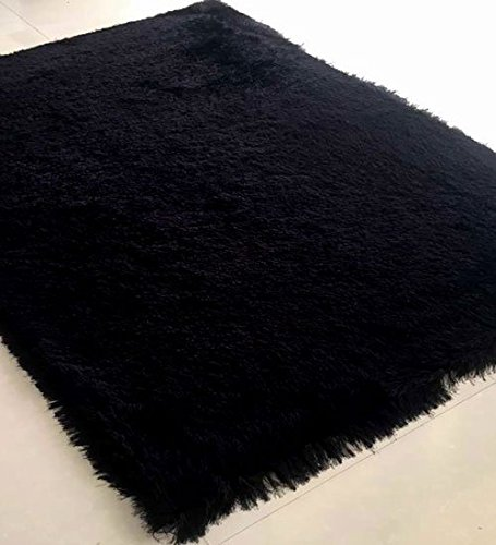 Homemusthaves Huge Blowout Sale Rug Rugs Carpet Shag Shaggy 8X10 8 x 10 Hand Carved (Black) by Homemusthaves