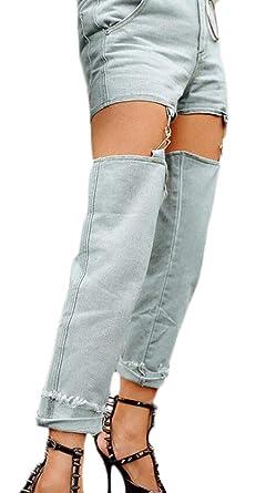 Amazon.com: Jotebriyo - Pantalones vaqueros para mujer ...
