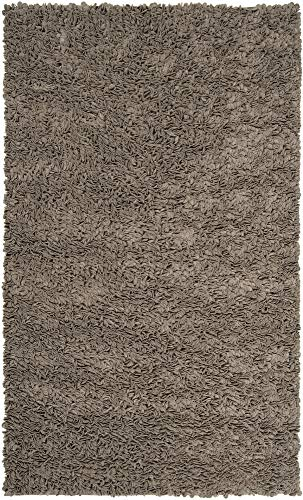 - Surya Blossom BLO-1000 Shag Hand Woven 100% New Zealand Felted Wool Elephant Gray 2' x 3' Accent Rug